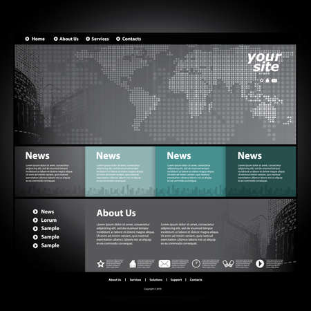 abstract template: Website template Illustration