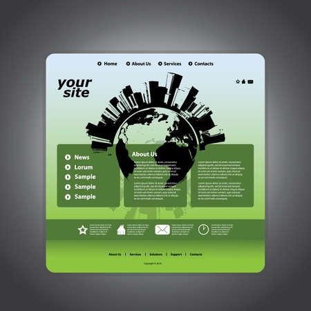 Website template Stock Vector - 11105667