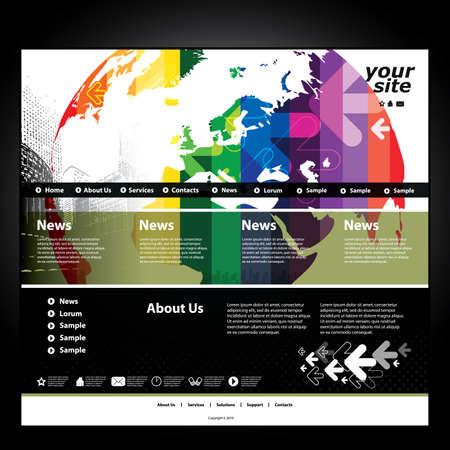 mapa europa: Sitio web de plantilla