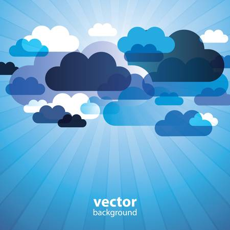 cloud cover: Abstract Cloud Background Vector