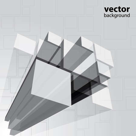 Abstract transparent grey background vector Stock Vector - 11222592