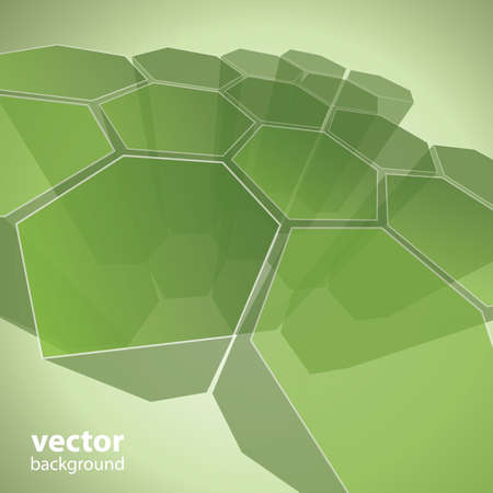 3d transparent polygon abstract background vector Stock Vector - 11222601