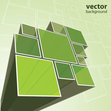 forme: Résumé vecteur transparente sur fond vert Illustration