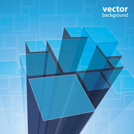 Abstract transparent blue background vector Vector