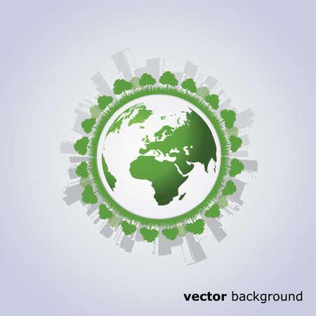 eco building: Eco Globe Illustration