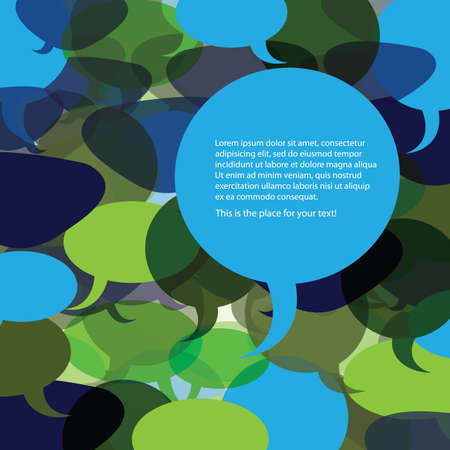 conversations: Speech Bubble Vector Background
