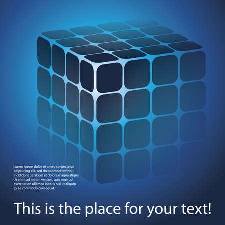 3D cube puzzle box vector background Stock Vector - 11669940
