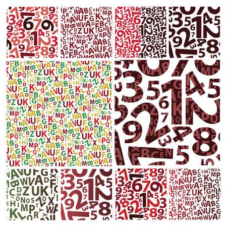 numbers abstract: Elementos de dise�o de fondo Vectores