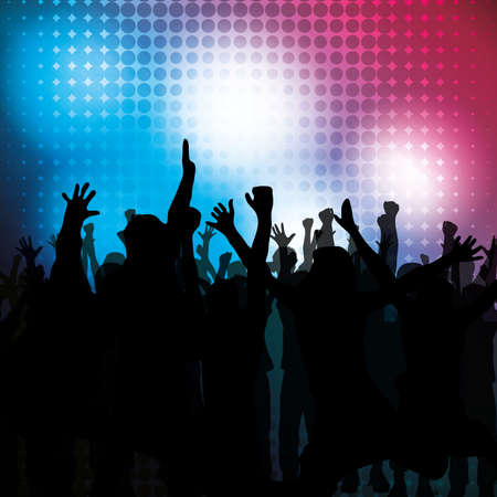 rave: Party People Vector Background