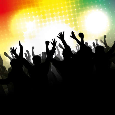 Party People Vector Background Stock Vector - 11288112