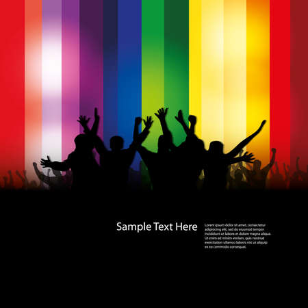 stage lights: Party people vector background