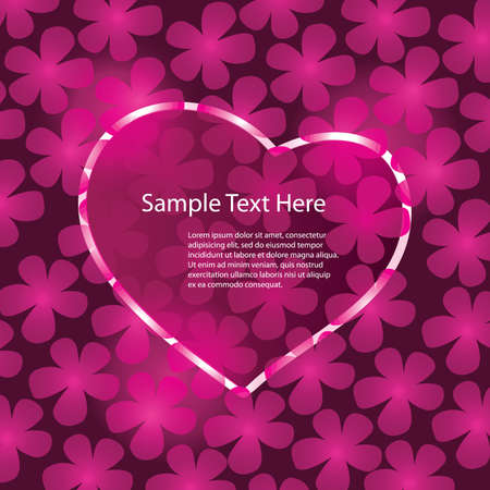 Hearts Background Vector Stock Vector - 11344280