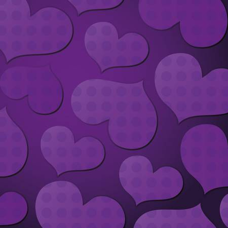 purple hearts: Seamless pattern with hearts