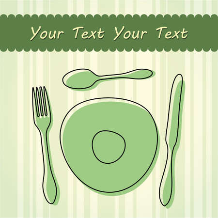 dinning table: Cutlery and plate
