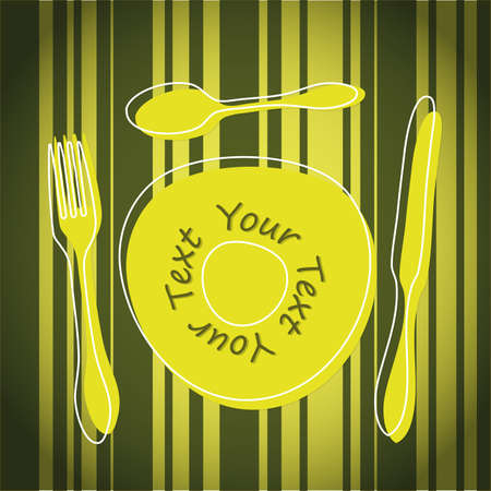 Cutlery and plate Vector