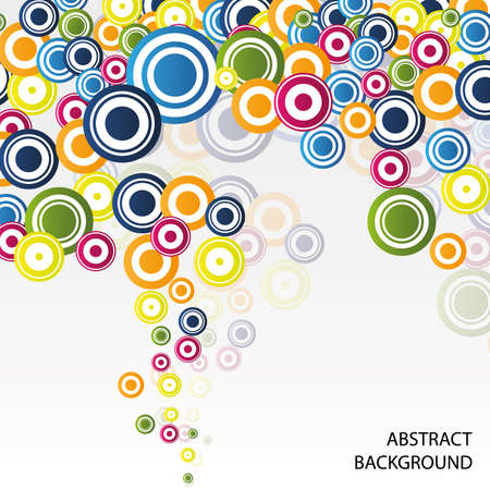 Colorful Abstract Bubbles Background Stock Vector - 11291317