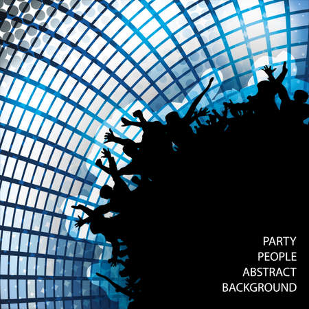 Party People Abstract Background Vector