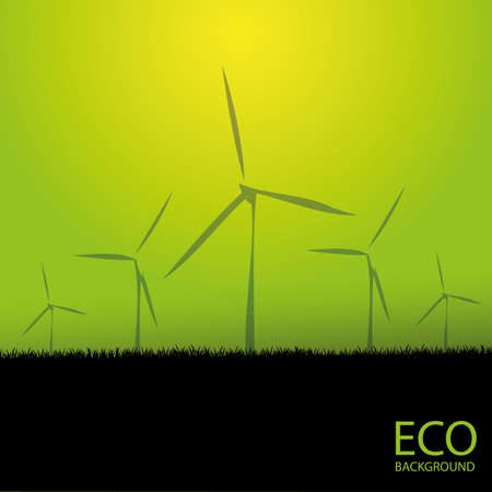 Windmills background Stock Vector - 11310051
