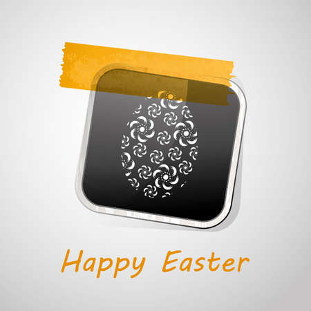 Happy Easter Card Stock Vector - 11907036