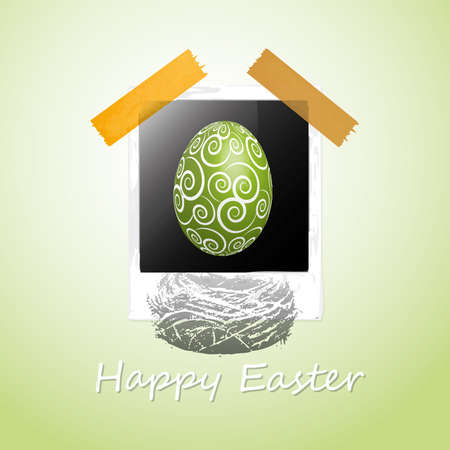 Happy Easter Card Stock Vector - 11815319