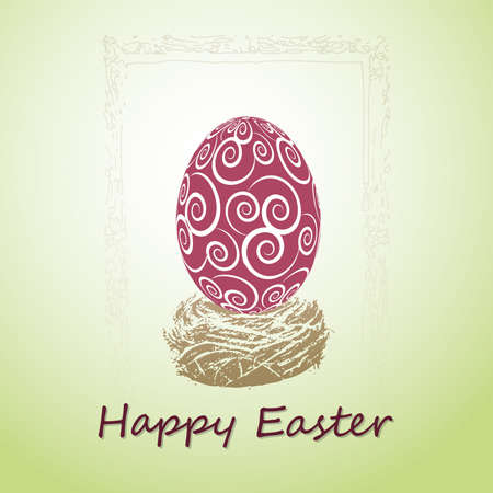 Happy Easter Card Stock Vector - 11765726