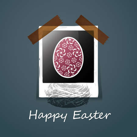 Happy Easter Card Stock Vector - 11738510