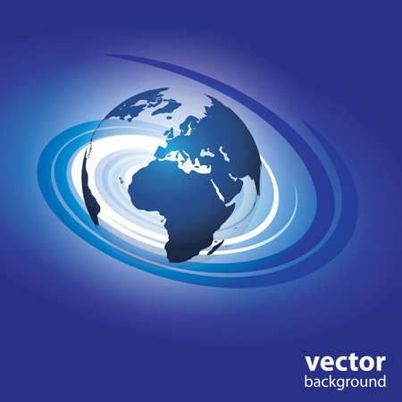 north africa: Swirl globe vector