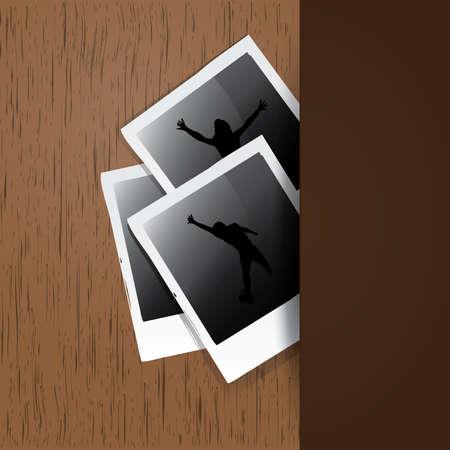 docket: Photos on a wood surface