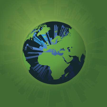 green buildings: Eco Globe Vector
