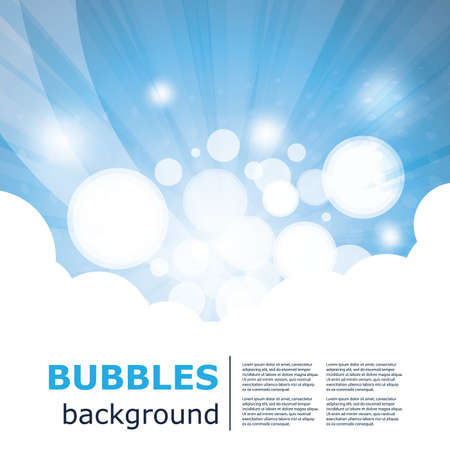Blue Bubbles Abstract Vector Background Design Vector