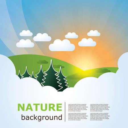 sun tan: La naturaleza y la plantilla de impresi�n web Vectores