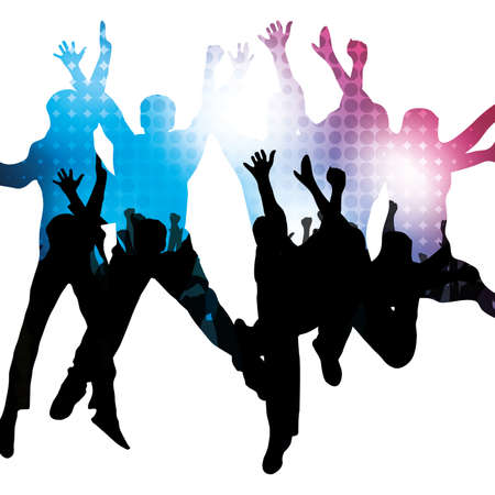 disco symbol: Party People Vector Background