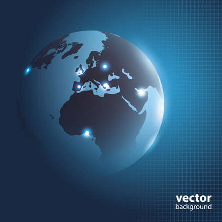 Global Business Background Concept Vector