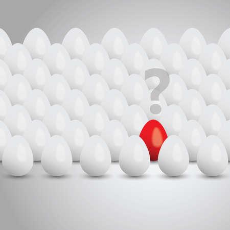 problems: Egg concept background Illustration