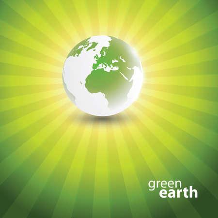 Eco Globe Design Vector