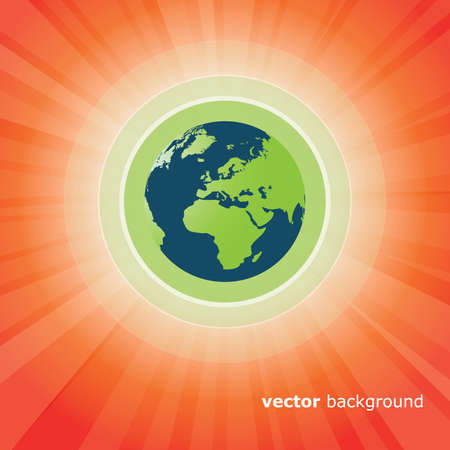 Sun Rays and Earth Vector Stock Vector - 11385031