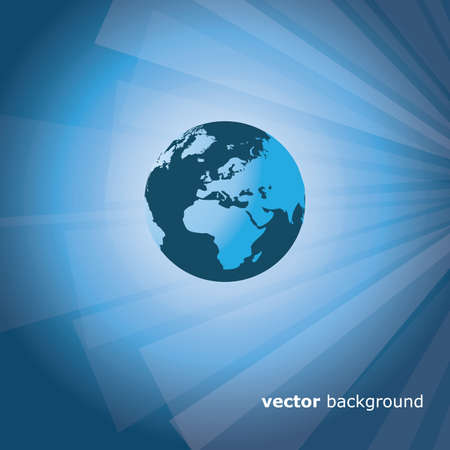 3d business abstract background - vector illustration Illustration