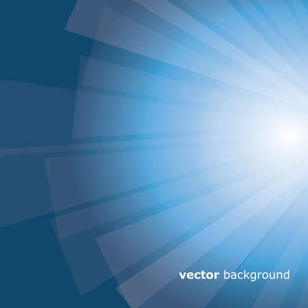 Cold blue sunrays - abstract background vector Stock Vector - 11344289