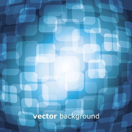 warped: Vector 3D warped square on blue background Illustration