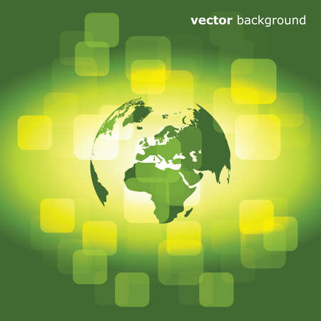 3d eco business abstract background - vector illustration  Vector