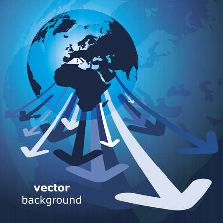 3d earth abstract background - vector illustration Vector