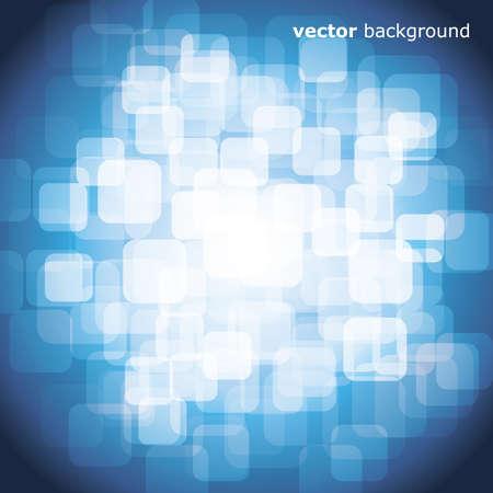 warped: 3D warped squares on blue background