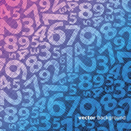 algebra: Background with numbers Illustration
