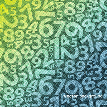 math symbols: Background with numbers Illustration