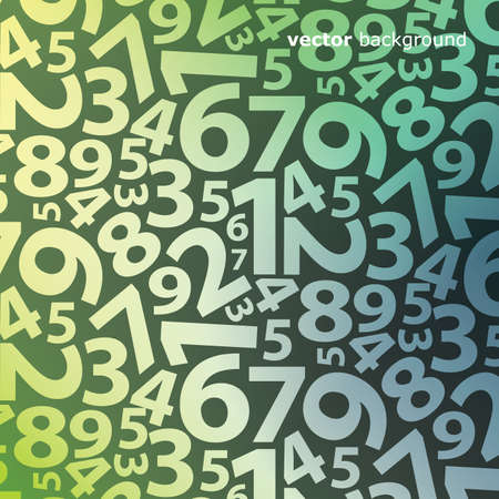 Background with numbers Stock Vector - 14022203