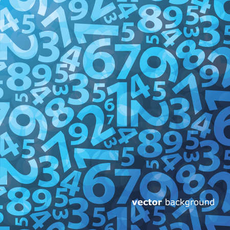 numbers abstract: Background with numbers Illustration