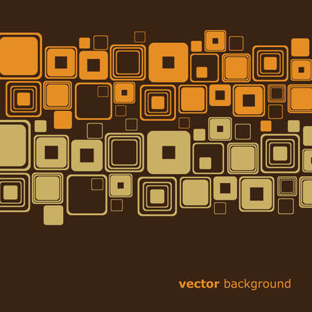 rounded squares: Retro Abstract Background Illustration