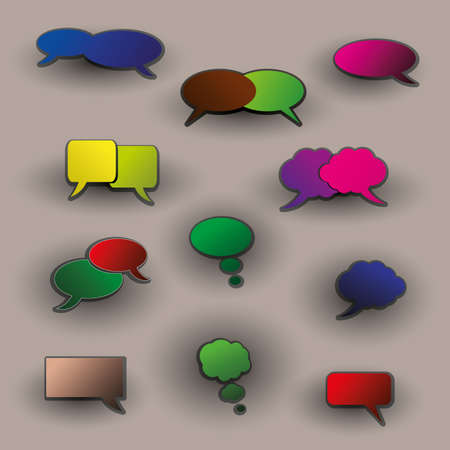 Colorful Labels, Tags, Speech Bubbles Vector
