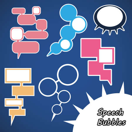 caption: Speech Bubbles Illustration