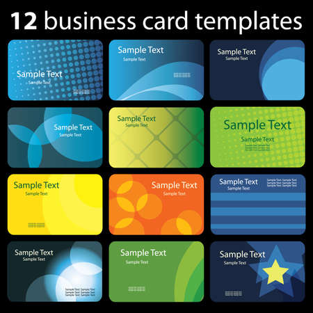 web address: Set of colorful business cards